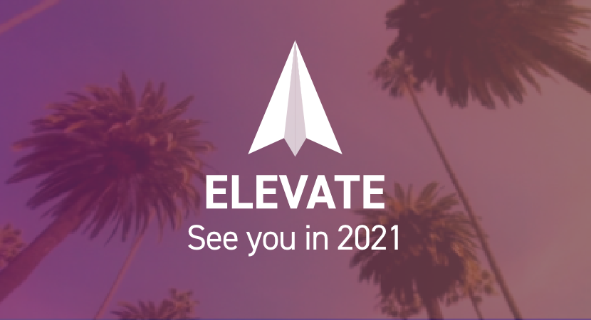 atpco elevate logo on a background with palm trees