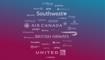 airline logos on a background